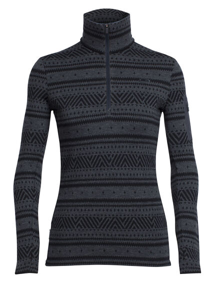 Vertex Long Sleeve Half Zip Icon Fairisle
