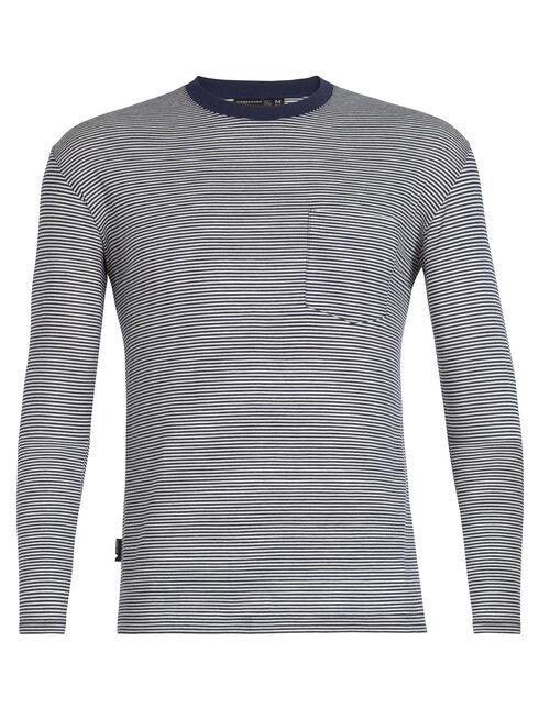 旅 TABI Luxe Lite Long Sleeve Pocket Crewe Stripe