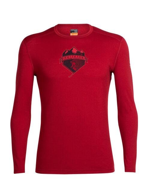 Oasis Long Sleeve Crewe Ski Crest