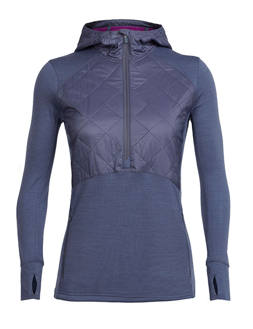 MerinoLOFT Women Ellipse Half Zip Hood